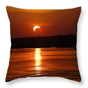 Solar Eclipse 2012 - Fort Worth Texas Throw Pillow