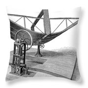 Solar Engine, 1884 Throw Pillow