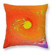 Solar Flare Over Ocean Throw Pillow