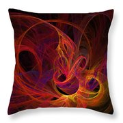Solar Flares Throw Pillow