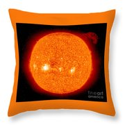 Solar Prominence Throw Pillow by Nasa