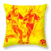 Solar Soccer Throw Pillow