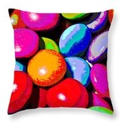 solarised Abstract Throw Pillow