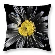 Solarized Daisy Throw Pillow