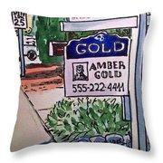 Sold Sketchbook Project Down My Street Throw Pillow by Irina Sztukowski