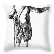 Soldier, 18th Century Throw Pillow