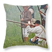 Soldier Fires Throw Pillow