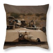 Soldier Looks Out The Main Hatch Throw Pillow