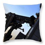 Soldier Mans The .50 Caliber Machine Throw Pillow