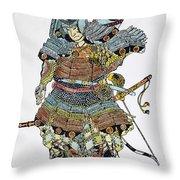 Soldier: Samurai Throw Pillow