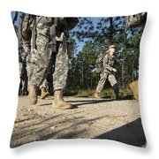 Soldiers Conduct A Ruck March At Fort Throw Pillow