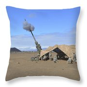 Soldiers Execute A High Angle Fire Throw Pillow