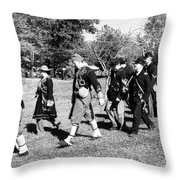 Soldiers March Black And White IIi Throw Pillow