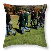 Soldiers March Two By Two Throw Pillow