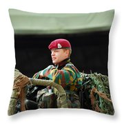 Soldiers Of A Belgian Recce Or Scout Throw Pillow
