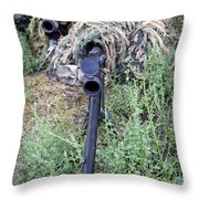 Soldiers Practice Sniper Skills Throw Pillow