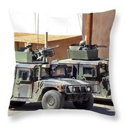 Soldiers Provide Overwatch For Fellow Throw Pillow