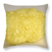 Solid Sulfur Throw Pillow