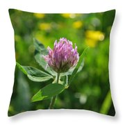 Solitarty Clover Throw Pillow
