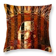 Solitary Man Throw Pillow by Stuart Turnbull