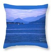 Solitary Sailing Throw Pillow