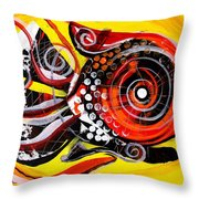 Solo Louisiana Lovebird Fish Throw Pillow