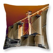 Soloized Grain Bins Throw Pillow