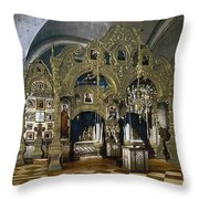Solovetsky Monastery On The Kola Peninsula - Russa - Ca 1900 Throw Pillow