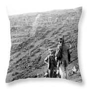 Soluntum Sicily - Old Roman Town Ruins - C 1906 Throw Pillow