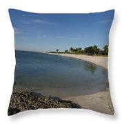 Sombrero Beach Throw Pillow