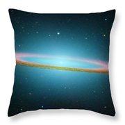 Sombrero Galaxy M104, Ir Image Throw Pillow