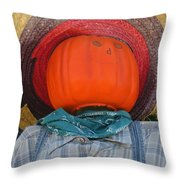 Sombrero Scarecrow Throw Pillow