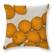Some Indian Sweets Called A Ladoo In The Shape Of A Sphere Throw Pillow