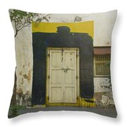 Somebody's Door Throw Pillow