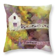 Somes Bridge - Somesville Maine Throw Pillow