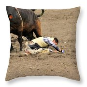 Sometimes The Bull Wins Throw Pillow