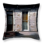 Somewhere In The French Quarter Throw Pillow