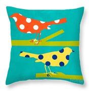 Song Birds Throw Pillow