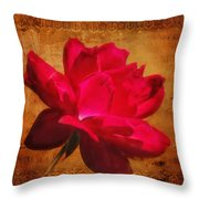 Song Of The Last Rose Throw Pillow