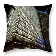 Sony Center At Night Throw Pillow