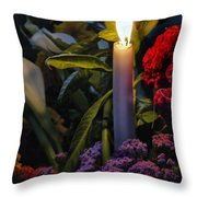 Soothing Candle Light Throw Pillow