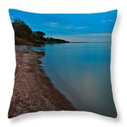 Soothing Shoreline Throw Pillow