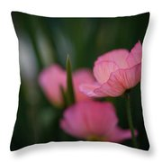 Sordid Poppies Throw Pillow