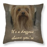Sorry You're Sick Greeting Card - Cute Doggie Throw Pillow