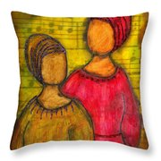 Soul Sistahs Sing Of Friendship Throw Pillow