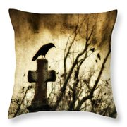 Soulful Crow Throw Pillow