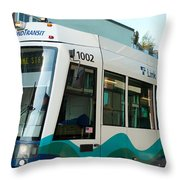 Sounder Train Throw Pillow