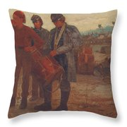 Sounding Reveille Throw Pillow