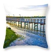 Soundside Park Surf City Throw Pillow