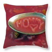 Soup For Mommy Throw Pillow by Ausra Huntington nee Paulauskaite